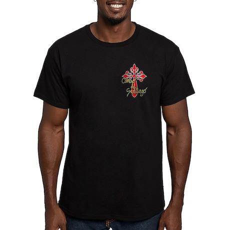Camino De Santiago Men's Fitted T-Shirt (dark)