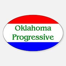 Oklahoma Progressive Oval Decal