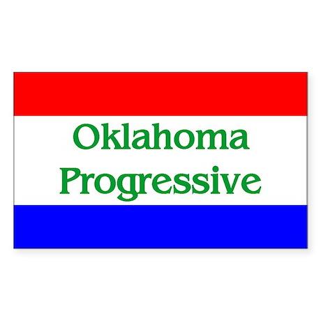 Oklahoma Progressive Rectangle Sticker