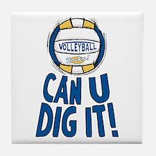 Can U Dig It B/Y Tile Coaster