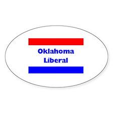 Oklahoma Liberal Oval Decal