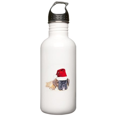 Christmas Boxer Puppy Stainless Water Bottle 1.0L