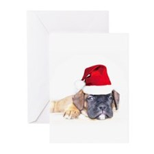 Christmas Boxer Puppy Greeting Cards (Pk of 20)
