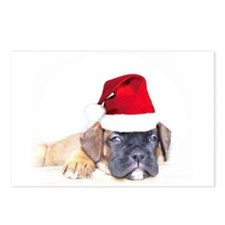 Christmas Boxer Puppy Postcards (Package of 8)