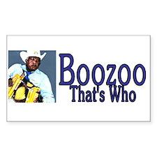 Zydeco Boozoo Rectangle Decal