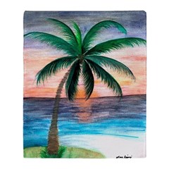 Sunset Palm Throw Blanket from art