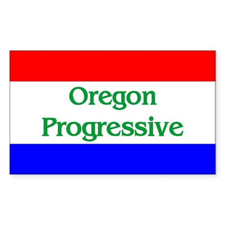 Oregon Progressive Rectangle Sticker