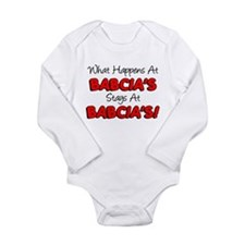 What Happens At Babcia's Long Sleeve Infant Bodysu