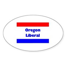 Oregon Liberal Oval Decal