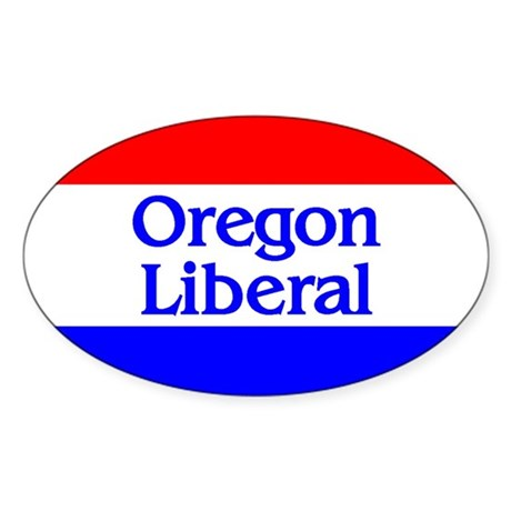 Oregon Liberal Oval Sticker