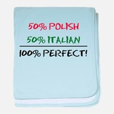 50 Percent Polish baby blanket