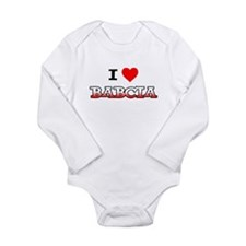 I Love Babcia Long Sleeve Infant Bodysuit