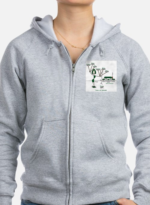 Lady of Leisure Zip Hoodie