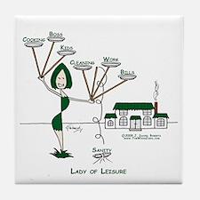 Lady of Leisure Tile Coaster