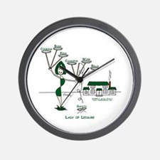 Lady of Leisure Wall Clock