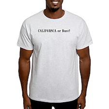 California or Bust! Ash Grey T-Shirt