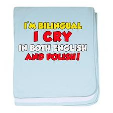 Bilingual Polish Baby baby blanket