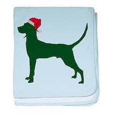 Redbone Coonhound baby blanket