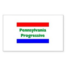 Pennsylvania Progressive Rectangle Decal