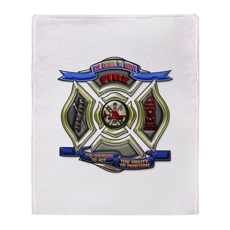 Throw Blanket Firefighter Emergency Fire Rescue