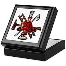 Keepsake Box Firefighter Graphic Symbols Tools