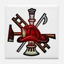 Tile Coaster Firefighter Graphic Symbols Tools
