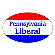 Pennsylvania Liberal Oval Decal