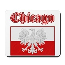 Chicago Polish Flag Mousepad