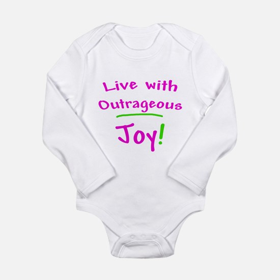 Pink Live With Outrageous Joy Long Sleeve Infant B