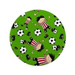 "Cute Soccer Footy Boy 3.5"" Button (100 pack)"