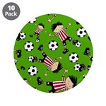 "Cute Soccer Footy Boy 3.5"" Button (10 pack)"