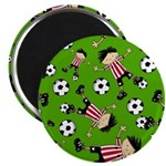 "Cute Soccer Footy Boy 2.25"" Magnet (100 pack)"