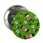 "Cute Soccer Footy Boy 2.25"" Button"