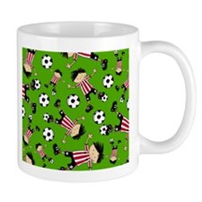 Cute Soccer Footy Boy Coffee Mug