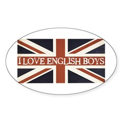 I Love English Boys Decal