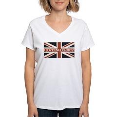 I Love English Boys Women's V-Neck T-Shirt