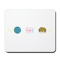 Peace, Love & Rob Mousepad