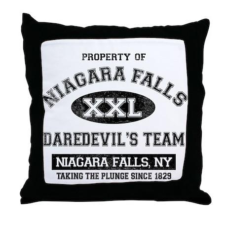 Property of Niagara Falls Throw Pillow