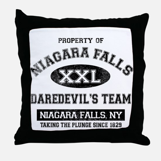 Property of Niagara Falls Throw Pillow
