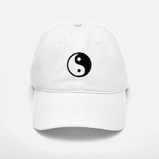 Black Yin Yang Baseball Baseball Cap