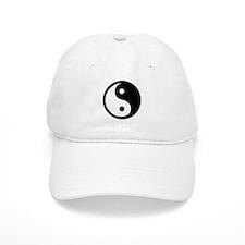 Black Yin Yang Baseball Cap