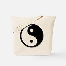 Black Yin Yang Tote Bag