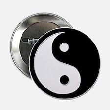 """Black Yin Yang 2.25"""" Button"""