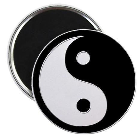 Black Yin Yang Magnet