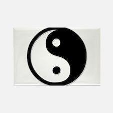 Black Yin Yang Rectangle Magnet (10 pack)