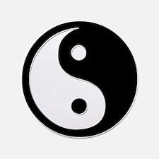 """Black Yin Yang 3.5"""" Button"""