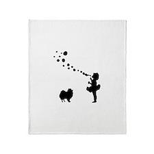 Pomeranian Throw Blanket