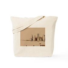 Altered Skyline Tote Bag