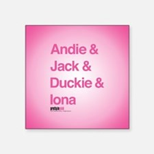"""Pretty in Pink: Character N Square Sticker 3"""" x 3"""""""