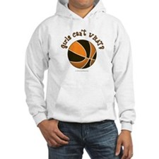 Black/Orange Basketball Hoodie